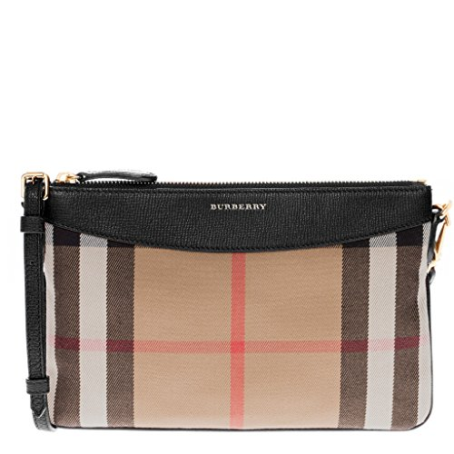 Burberry Women's House Check and Clutch Bag Black by BURBERRY