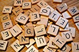100 number tiles - 100 Wooden Scrabble Tiles Black Letters Numbers For Crafts Wood Alphabets