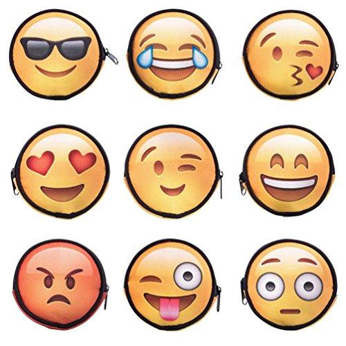 Outtop Cute Emoji Coin Change Hasp Wallet Clutch for Men Women Boy Girls