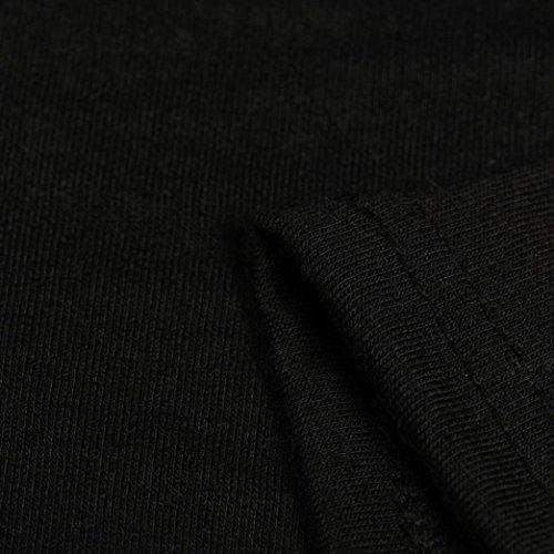 Winwintom Las camisetas de manga corta de verano sólido vendaje Top casual blusa