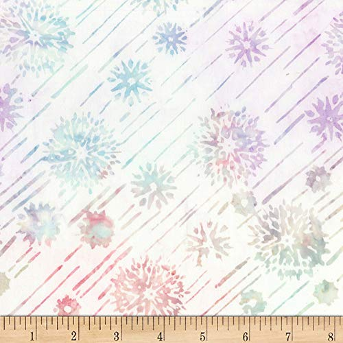 Timeless Treasures 0587383 Tonga Batiks Jewel Amethyst Shooting Stars Opal Fabric by The ()