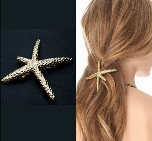 Hair Clip for Women Girl Baby Beach Hair Barrette Starfish Wedding Prom Hairpin