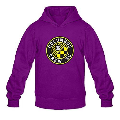 Mens Columbus Crew SC Logo Customized 100% Cotton Size M Color Purple Hoddies By Mjensen
