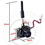 ready made rc fpv - Wolfwhoop WT02-D 600TVL Ultra Micro AIO Camera and 200mW 5.8GHz 40CH Video Transmitter with Dipole Brass Antenna for FPV Indoor Racing