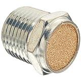 "Parker 047020002 Sintered Bronze Breather Vent, 1/8"" NPT Male, 0.44"" Length, 150 psi"
