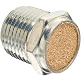 "Parker 047040004 Sintered Bronze Breather Vent, 1/4 "" NPT Male, 0.63"" Length, 150 psi"
