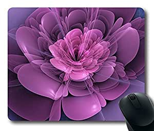 "3d Flower Personalized Design Custom Rectangle Mouse Pad Oblong Gaming Mousepad in 220mm*180mm*3mm (9""*7"") -100724"