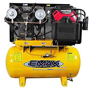 EMAX EGES1860ST18 HP Gas Air Compressor, 60-Gallon, Horizontal, Electric Start, Industrial Plus Series