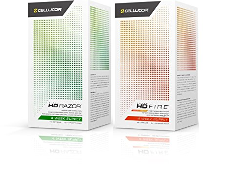 Cellucor SuperHD Fat Burner Combination Kits for Weight Loss (Fire + Razor, Combo) by Cellucor/Nutrabolt