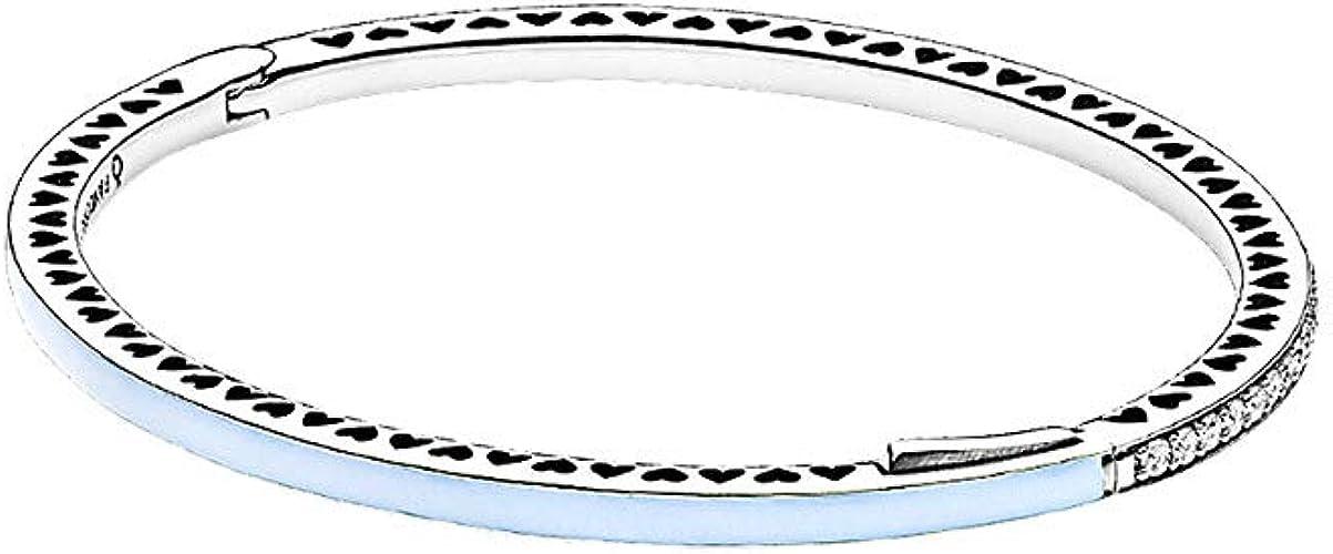 bracelet jonc coeur lumineux pandora