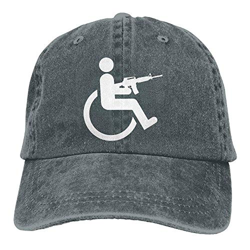 (Yuan Kun Men&Women Adjustable Denim Jeans Baseball Cap Wheelchair Cycling Dad Hat)