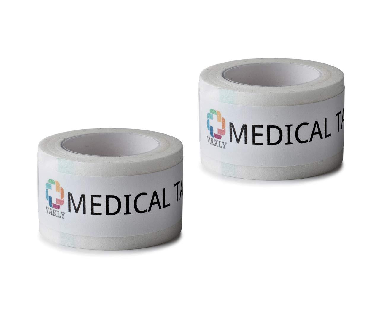 24 Conforming Stretch Gauze Rolls 4''x4.1 Yards - Plus 2 Rolls of Vakly Medical Tape