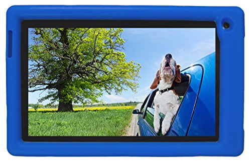 Bobj Rugged Case for RCA Voyager III and Voyager II 7-inch - BobjGear Custom Fit - Patented Venting - Sound Amplification - BobjBounces Kid Friendly (Batfish Blue)