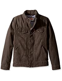 Andrew Marc mens Palermo Moto Jacket With Leather Trim