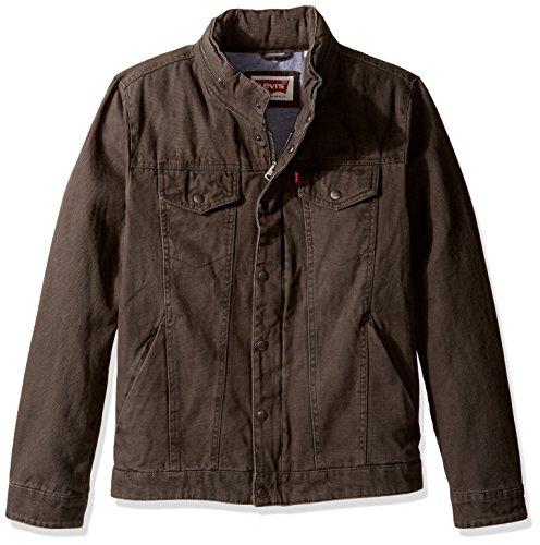 Levi's Men's Cotton Canvas Commuter Trucker, Olive, (Cotton Canvas Jacket)