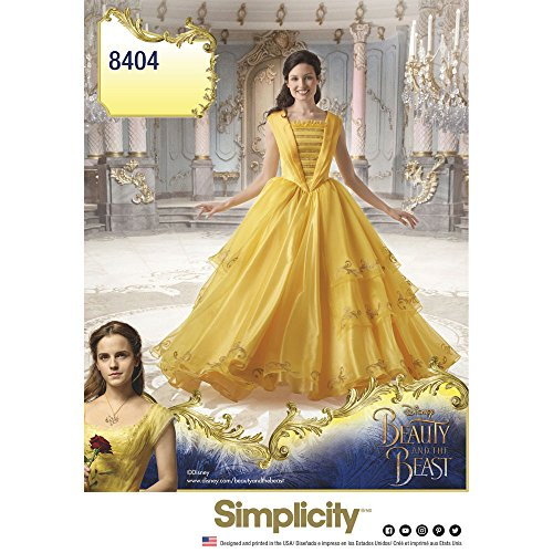 Simplicity Disney Beauty and the Beast Costume for Misses Art and Craft Sewing Template