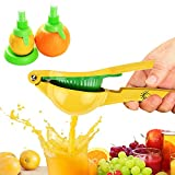 Manual Lemon Squeezer, Hand Citrus Lime Juicer Press, Metal Fruit Juicer/Citrus Press Kitchen Tool by Chef Time, with Lemon Sprayer Kit