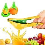 Citrus/Lime Juicer Press, Manual Lemon Squeezer, Metal Fruit Orange Press Kitchen Tool by Chef Time, with Lemon Sprayer Kit