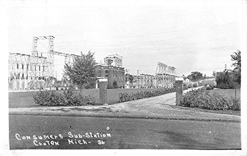 Croton Michigan Consumers Sub Station Real Photo Antique Postcard K53041