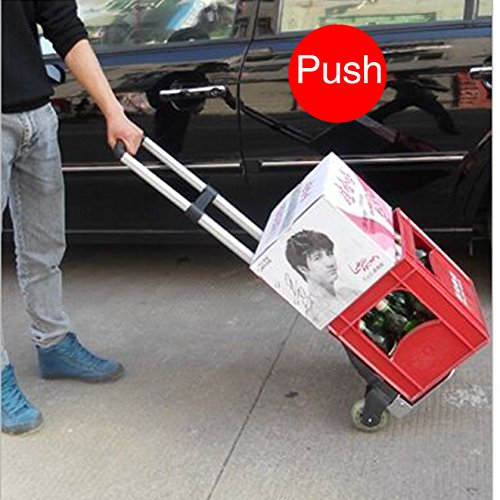 Portable Folding Heavy Duty Hand Truck Moving Warehouse Collapsible Trolley ()