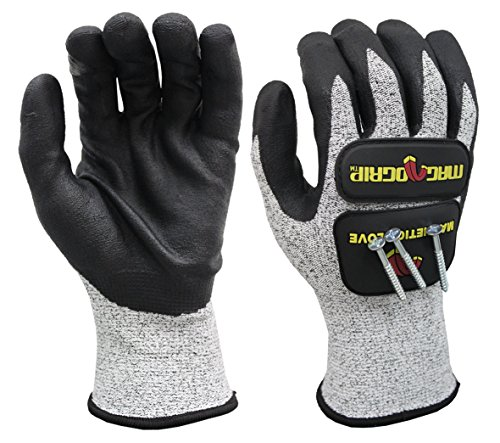 MagnoGrip 006-086 Impact Cut Resistant Magnetic Gloves with Touchscreen Technology - Xlarge by MagnoGrip