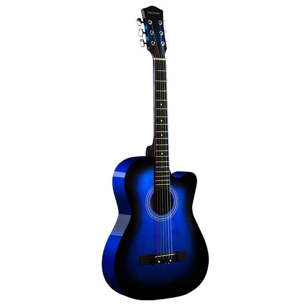 Color : Ash Loivrn 38 Inch Guitar Acoustic Piano String Guitar Beginners Getting Started Practice Mini Guitar Instrument Starter Kit Classical Guitar 3//4 Classical Eucalyptus Guitar