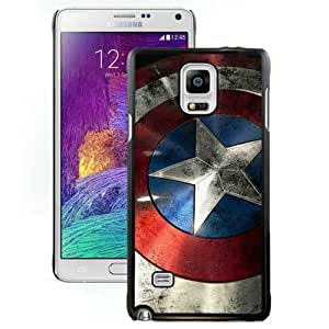 Beautiful And Unique Designed Case For Samsung Galaxy Note 4 N910A N910T N910P N910V N910R4 With Captain America Shield Black Phone Case