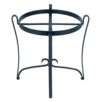 Amazon Com Achla Designs Round Wrought Iron Plant Stand Wrought