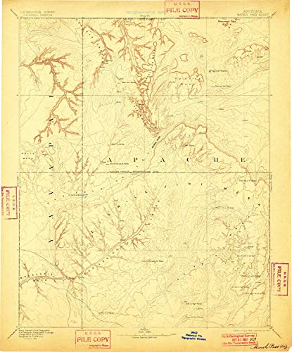 YellowMaps Marsh Pass AZ topo map, 1:250000 Scale, 1 X 1 Degree, Historical, 1892, Updated 1901, 19.9 x 16.5 in - ()