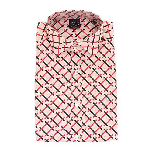Bagutta Men's Rberlino08111beige Beige Cotton Shirt