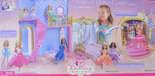 Barbie The 12 DANCING PRINCESSES MAGICAL DANCE CASTLE Playset w MUSIC & 2 Sided Play (2006)