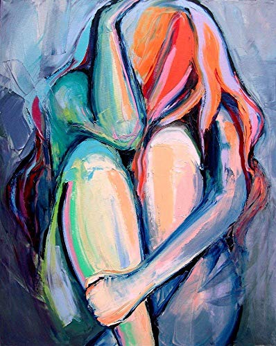Abstract Nude Contemplative Emotional Figure Art PRINT Claustrophobia Contemporary artwork by Aja choose size and type of paper