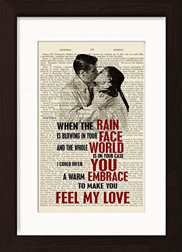 Bob Dylan Adele Inspired Make Me Feel Your Love Mounted / Matted Ready To Frame Dictionary Art Print (To Make Me Feel Your Love Bob Dylan)