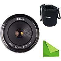Meike MK-FX-28-2.8 + Lens Bag, 28mm f/2.8 fixed manual focus lens for Fujifilm Mirrorless Camera xt1 x-pro1 With EACHSHOT Lens Cleaning Cloth