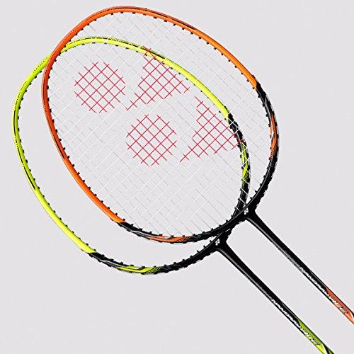 Yonex 2018 New Nanoray Ace Badminton Racket (Black Orange) by Yonex