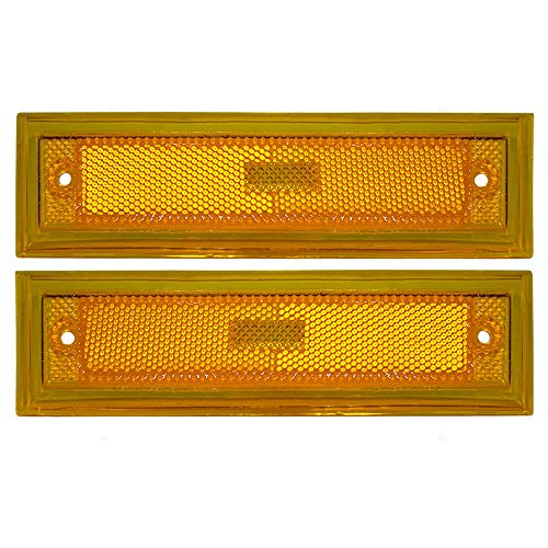 Driver and Passenger Signal Side Marker Lights Replacement for Chevrolet GMC Pickup Truck SUV 915449 915450