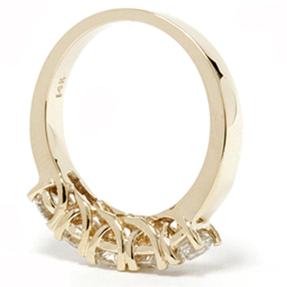 1 1/2ct Real Diamond Wedding Anniversary 14K Gold Ring
