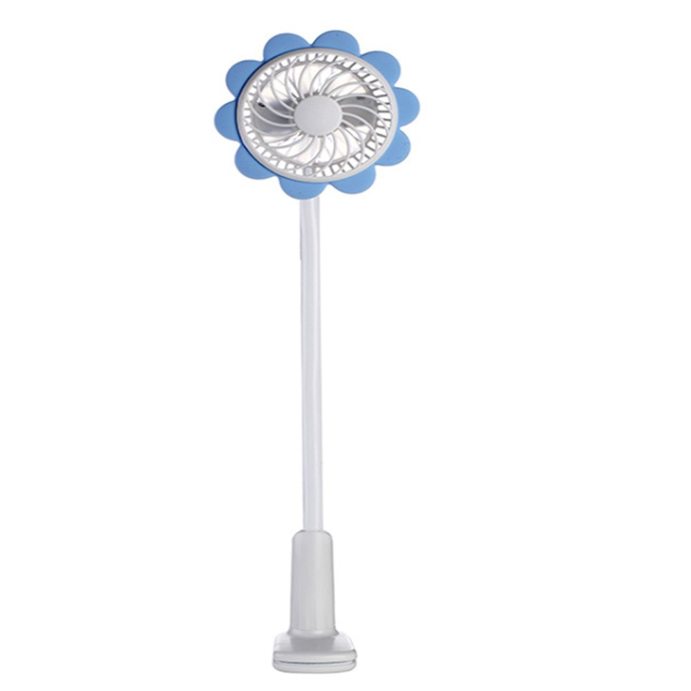 Sammid Clip-On Fan,Portable Handheld Fans,Personal Mini USB fan,360 Degrees Adjustable Fans - Blue
