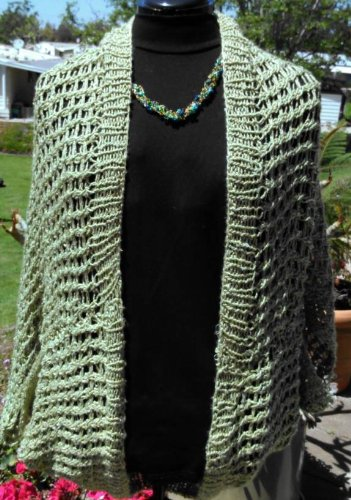 Easy Lacy Twisty Glamour Shrug Knitting Pattern Kindle Edition By
