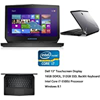 Dell Alienware 13.3 Full HD 2560x1440 Backlit keyboard Touchscreen Gaming Laptop, Intel Core i7-5500U, 16GB RAM, 512GB SSD, 2.40 GHz, NVIDIA GeForce GTX 860M, Bluetooth, WIFI, Webcam , Windows8.1