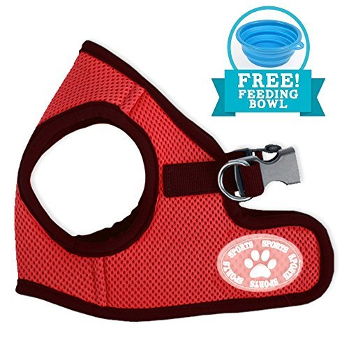 Comfy Dog Harness   Prime Polyester Adjustable Mesh Dog Puppy Pet Soft Harness Vest Include Feeding Bowl   No Pull Long Lasting Usage Pet Control 172 12