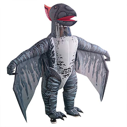 T-rex Inflatable Dinosaur Costume Pterosaur Fancy Dress Adult Halloween Cosplay Suit (Grey Pterosaur) -