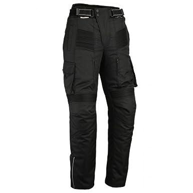 Australian Bikers Gear Pantalon moto tipo Cargo con bolsillos laterales y con Kevlar anti abrasivo en