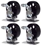 Online Best Service 4 Large All Steel Swivel Plate Caster W Brake Lock Heavy Duty 3.5'' Wheel