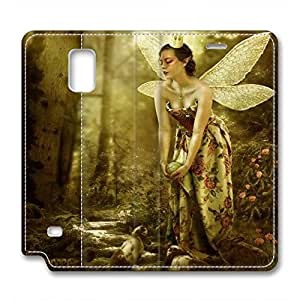 JHFHGVH Leather Case for Samsung galaxy Note 4, Faeries Set Ultimate Protection Leather Case for Samsung galaxy Note 4