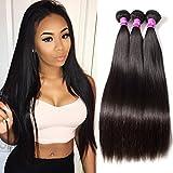 (US) RECOOL Mink Brazilian Hair Straight 4 Bundles 8a Virgin Human Hair Extensions Natural Black Color for Women Cheap Sale(8 10 12 14)