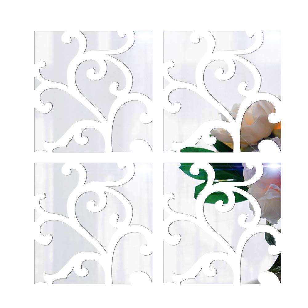 Anself, specchio acrilico rimovibile fai da te 3D. Decalcomania da parete per decorazione domestica Type 2 EXPSFD009231
