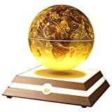 Floating Globe, Aldeepo Levitating Globe Rotating with World Map and Constellation in 6'' Magnetic Anti Gravity Globe for Home Office Decoration, Educational Geography Gift for Children (Antique Gold)