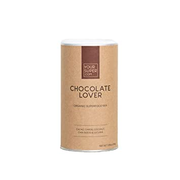 Your Super Foods Chocolate Lover Mix - Powdered Blend of 6 Organic Vegan Superfoods - Cacao