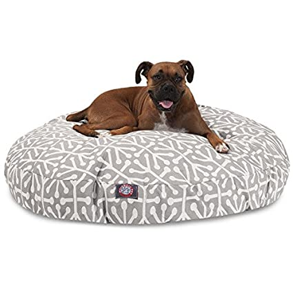 Amazon Com Gray Aruba Large Round Indoor Outdoor Pet Dog Bed With